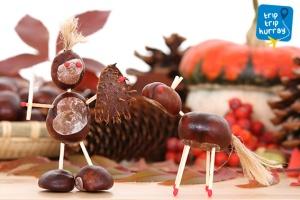 autumn handcraft with children