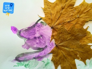 autumn handcraft with kids hedgehog